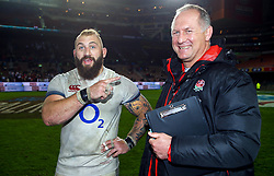 Joe Marler of England with Richard Hill (Team Manager) of England- Mandatory by-line: Steve Haag/JMP - 23/06/2018 - RUGBY - DHL Newlands Stadium - Cape Town, South Africa - South Africa v England 3rd Test Match, South Africa Tour