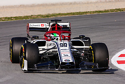 February 19, 2019 - Montmelo, BARCELONA, Spain - Antonio Giovinazzi from Italy with 99 Alfa Romeo Racing in action during the Formula 1 2019 Pre-Season Tests at Circuit de Barcelona - Catalunya in Montmelo, Spain on February 19. (Credit Image: © AFP7 via ZUMA Wire)