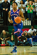 WACO, TX - JANUARY 7: Wayne Selden Jr. #1 of the Kansas Jayhawks brings the ball up court against the Baylor Bears on January 7, 2015 at the Ferrell Center in Waco, Texas.  (Photo by Cooper Neill/Getty Images) *** Local Caption *** Wayne Selden Jr.