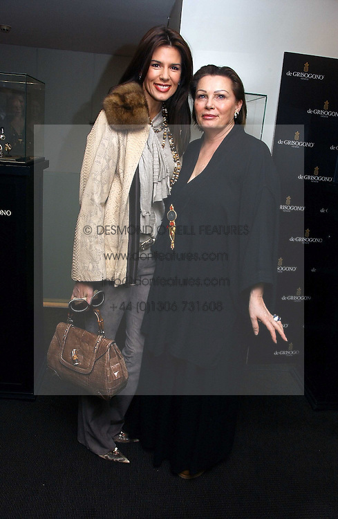 CHRISTINA ESTRADA JUFFALI and her mother CHANTELLE LEE at a lunch hosted by Fawaz Gruosi to celebrate the launch of De Grisogono's latest watch 'Be Eight' held at Nobu, 19 Old Park Lane, London W1 on 30th November 2006.<br /><br />NON EXCLUSIVE - WORLD RIGHTS