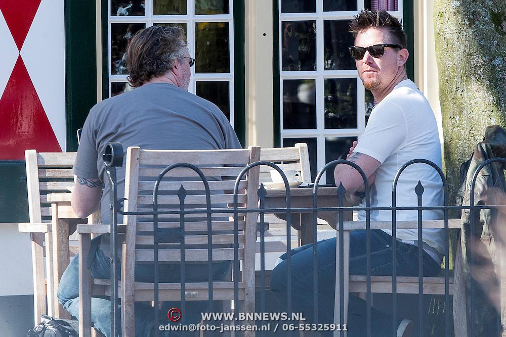 NLD/Amsterdam//20140319 - John de Mol op een terras in Laren