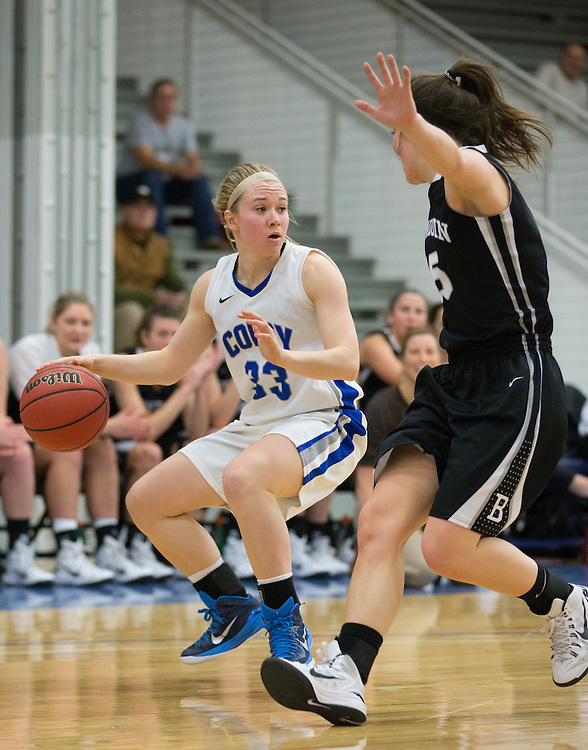 Lauren Barnhart, of Colby College, in a NCAA Division III basketball game against Bowdoin College on December 6, 2014 in Waterville, ME. (Dustin Satloff/Colby College Athletics)