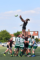 Rugby Union - 2021 Green King IPA Championship - Final, 1st leg - Ealing Trailfinders vs Saracens - Trailfinders Sports Ground<br /> <br /> Saracens' Maro Itoje claims the lineout.<br /> <br /> COLORSPORT/ASHLEY WESTERN