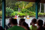 Kayaking Wailua River, Kauai, Hawaii