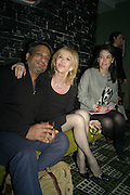 JAMES DE SILVA; TRUDIE STYLER, Party after the opening of  A Memory, A Monologue, A Rant, and A Prayer  at Century Club.  Restless Buddha's fundraising event helping women around the world. All proceeds raised from the sale of tickets go to Women for Women International, V-Day and Domestic Violence Intervention Project. 26 March 2012