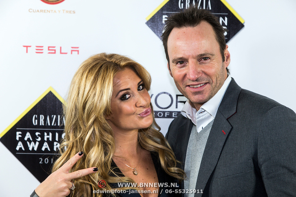 NLD/Amsterdam/20141209 - uitreiking Grazia Fashion Awards 2014, Chantal Bles en Michael Ling