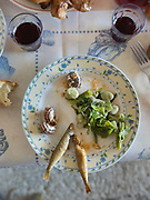 Sardines, escargot and fava beans. Big lunch on saturday with the Moschonas family. In and around the village of Meronas.