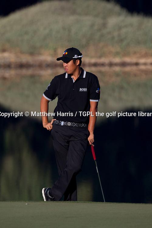 Byeong Hun AN (KOR) during first round Abu Dhabi HSBC Golf Championship 2016, Abu Dhabi GC,Abu Dhabi,UAE.