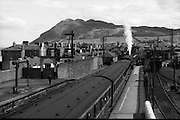 29/06/1952<br /> 06/29/1952<br /> 29 June 1952<br /> C.I.E.  Railway Station, Bray, Co. Wicklow. a Train departing the station.