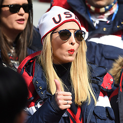 U.S. President Donald Trump's daughter Ivanka gives a thumbs up as she watches the four-man bobsled final at the Pyeongchang 2018 Winter Olympic Games in South Korea, Sunday, February 25, 2018. Photo by Jonathan Hayward/CP/ABACAPRESS.COM