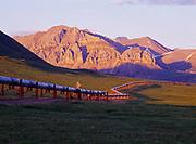 Trans Alaska Pipeline and the Philip Smith Mountains near the Atigun River, Brooks Range, Alaska.