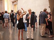 LUCIANA BRETT; GUY BRETT, Tate Summer Party. Celebrating the opening of the  Fiona Banner. Harrier and Jaguar. Tate Britain. Annual Duveens Commission 29 June 2010. -DO NOT ARCHIVE-© Copyright Photograph by Dafydd Jones. 248 Clapham Rd. London SW9 0PZ. Tel 0207 820 0771. www.dafjones.com.