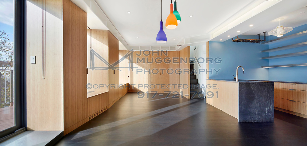 Aglow apartment designed by CDR Studio Architects. Photographed by John Muggenborg.