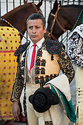 A Mexican Matador prepares for the bullfights at the Plaza de Toros in San Miguel de Allende, Mexico.