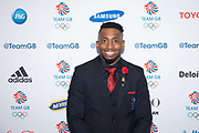 British sprinter and bobsledder Joel Fearon at Team GB's annual ball at Old Billingsgate on the 21st November 2019 in London in the United Kingdom.