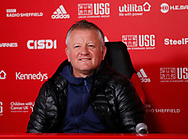 Chris Wilder manager of Sheffield Utd during the weekly press conference at the Steelphalt Academy, Sheffield. Picture date: 5th March 2020. Picture credit should read: Simon Bellis/Sportimage