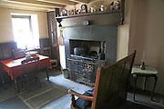 Interior quarryman's house scullery from 1901, National slate museum, Llanberis, Gwynedd, Snowdonia, north Wales, UK