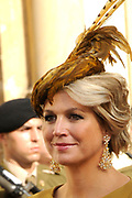 Religious wedding of Grand Duke Guillaume and Princess Stephanie at the Cathedral Notre-Dame in Luxembourg <br /> <br /> On the photo:  Princess Maxima