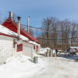 The LaRiviere sugarhouse in Big Six Township, Maine.