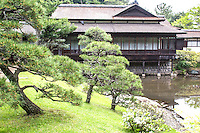 Sankeien Rinshunkaku Teahouse - Once the private domain of the silk baron Hara Sankei, one of Japan's most exquisite gardens was opened to the public in 1904. Hara wished to share the beauty of his bounty by opening up his grounds, surely one of the world's most beautiful examples of benevolent capitalism. The cherry blossoms in spring and maple leaves in autumn make Sankeien a favorite spot in Yokohama for residents and visitors alike. Besides the landmark three-storied pagoda, koi ponds, streams and an elegant feudal lord's residence, numerous tea houses are scattered through the expanse.