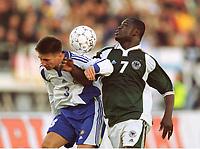 v.l. Ville NYLUND, Gerald ASAMOAH WM-Qualifikation Finland - Deutschland 2:2, Tyskland