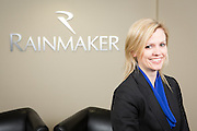 Anna Holdsworth, Sales Floor Manager of Rainmaker Systems, Inc., poses for a portrait at the Rainmaker Systems, Inc. campus in Campbell, California, on April 25, 2013. (Stan Olszewski/SOSKIphoto)