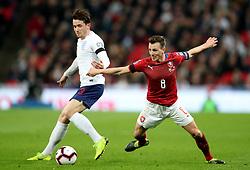 England''s Ben Chilwell in action with Czech Republic''s Vladamir Darida