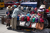 Hat and bag vendor on 7th Avenue and 55th Street