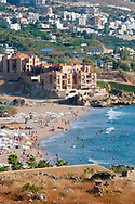 Byblos, Lebanon - September 4, 2010: A late summer afternoon on the coast of Byblos (Jbeil), Lebanon