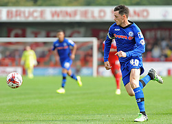 Rochdale's Ian Henderson carries the ball - photo mandatory by-line David Purday JMP- Tel: Mobile 07966 386802 - 06/09/14 - Crawley Town v Rochdale - SPORT - FOOTBALL - Sky Bet Leauge 1 - London - Checkatrade.com Stadium