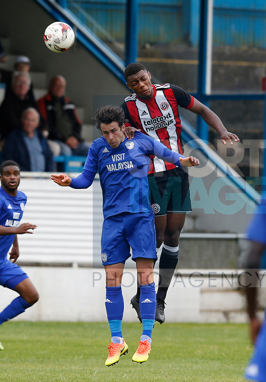Sam Graham of Sheffield Utd during the professional development league two match at the Bracken Moor Stadium, Stocksbridge. Picture date 21st August 2017. Picture credit should read: Simon Bellis/Sportimage