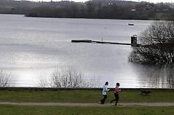 © Licensed to London News Pictures. 02/02/2013.Bewl water reservoir in Lamberhurst Kent is 97% full (Today 02.02.2013)  After the snow and rain of the last few months Bewl water seems to have an abundance of water but will Kent and the South East still suffer a drought and hose pipe ban in 2013?     Bewl Water is the largest stretch of open water in South East England and a key source of drinking water for East Sussex and Kent..It can hold more than 31,000 million litres of water - enough to provide an average day's water usage (about 150 litres) to nearly 200 million people..Photo credit : Grant Falvey/LNP