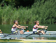Lucerne, SWITZERLAND,  GBR  LW2X, Bow Hester GOODSELL and Sophie HOSKING, move away from the start, of the third round of the  2009 FISA World Cup,  on the Rottsee regatta Course, Friday  10/07/2009 [Mandatory Credit Peter Spurrier/ Intersport Images].