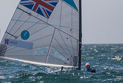 03.08.2012, Bucht von Weymouth, GBR, Olympia 2012, Segeln, im Bild Ainslie Ben, (GBR, Finn) // during Sailing, at the 2012 Summer Olympics at Bay of Weymouth, United Kingdom on 2012/08/03. EXPA Pictures © 2012, PhotoCredit: EXPA/ Daniel Forster ***** ATTENTION for AUT, CRO, GER, FIN, NOR, NED, POL, SLO and SWE ONLY!