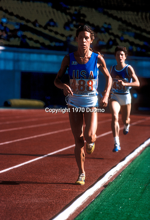 Francie Larrieu Smith competing in 1970 World Cup
