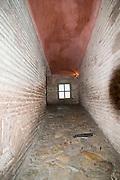Turkey, Istanbul, Interior of the Hagia Sophia Museum The narrow passage to the second floor