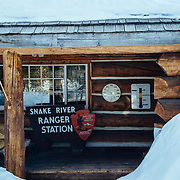 The entry ranger's station to Yellowstone National Park.