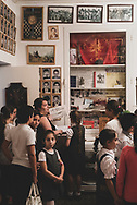 Armenian children visit the Museum to Fallen Soldiers during a school field trip in Stepanakert, capital of the self-proclaimed Republic of Artsakh (Karabakh). The museum is dedicated to the thousands who lost their lives in the Nagorno-Karabakh War that ended in 1994.<br /> <br /> (September 22, 2016)