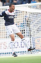 Falkirk's Phil Roberts misses a chance.<br /> Falkirk 1 v 2 Hamilton, Scottish Championship 31/8/2013.<br /> ©Michael Schofield.
