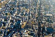 Nederland, Utrecht, Utrecht, 07-02-2018; binnenstad Utrecht, Domkerk, Domplein, Domtoren, Oude gracht.<br /> Overview City centre Utrecht.<br /> <br /> luchtfoto (toeslag op standard tarieven);<br /> aerial photo (additional fee required);<br /> copyright foto/photo Siebe Swart