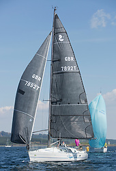 Sailing - SCOTLAND  - 25th-28th May 2018<br /> <br /> The Scottish Series 2018, organised by the  Clyde Cruising Club, <br /> <br /> First days racing on Loch Fyne.<br /> <br /> GBR7892T, Slippi Jin, David & Karen Parker, Dalgety Bay SC, First 35S5<br /> <br /> Credit : Marc Turner<br /> <br /> <br /> Event is supported by Helly Hansen, Luddon, Silvers Marine, Tunnocks, Hempel and Argyll & Bute Council along with Bowmore, The Botanist and The Botanist