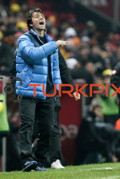 Kardemir Karabukspor's coach Bulent Korkmaz during their Turkish Super League soccer match Galatasaray between Kardemir Karabukspor at the Turk Telekom Arena at Seyrantepe in Istanbul Turkey on Saturday 14 January 2012. Photo by TURKPIX