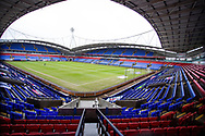 General view of The University of Bolton Stadium. The EFL Sky Bet League 2 match between Bolton Wanderers and Cheltenham Town at the University of  Bolton Stadium, Bolton, England on 16 January 2021.