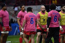 December 15, 2018 - Toulouse, France - Hommage a Nicolas Chauvin Les joueurs Toulousains en Rose (Credit Image: © Panoramic via ZUMA Press)