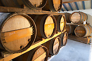 Domaine Pietri-Geraud Roussillon. Barrel cellar. France. Europe.