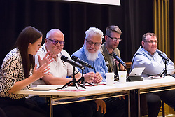 © Licensed to London News Pictures. 02/09/2018. London, UK.  Jon Lansman (centre), Momentum founder at the Jewish Labour Movement Conference 2018..  Photo credit: Vickie Flores/LNP