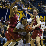 Feb 16 2017 - Berkeley, CA, U.S.A. California forward Kristine Anigwe (31) scored 10 points, battle in the paint during NCAA Women's Basketball game between Stanford Cardinal and California Golden Bears 66-72 lost at Hass Pavilion Berkeley Calif. Thurman James / CSM