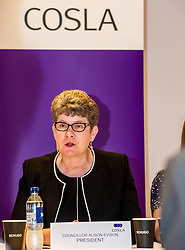 Pictured: Alison Evison<br /> <br /> The President of COSLA Councillor Alison Evison was joined today in Edinburgh by Councillor Gail Macgregor, COSLA's Resources Spokesperson and Councillor Adam McVey, Leader of Edinburgh City Council to set out in detail, Scottish Local Government's case for the introduction of a Transient Visitor Tax (Tourist tax).<br /> <br /> <br /> Ger Harley | EEm Date