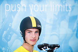 September 19, 2017 - Bergen, NORWAY - 170919 Christoffer Wall of Sweden in the warm up zone ahead of the Men Junior Individual Time Trial on September 19, 2017 in Bergen..Photo: Jon Olav Nesvold / BILDBYRN / kod JE / 160021 (Credit Image: © Jon Olav Nesvold/Bildbyran via ZUMA Wire)