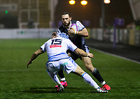 Rugby Union - 2020 / 2021 ERRC Challenge Cup - Newcastle Falcons vs Cardiff Blues - Kingston Park<br /> <br /> Tom Arscott of Newcastle Falcons is tackled by Matthew Morgan of Cardiff Blues<br /> <br /> COLORSPORT/BRUCE WHITE